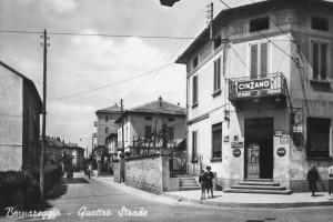 """""""Quattro strade"""" con via Obizzone"""