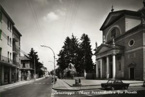 Via Prinetti e Chiesa Parrocchiale