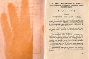 Statuto Circolo Coop del Popolo e Coop Edificatrice case Popolari bernareggio