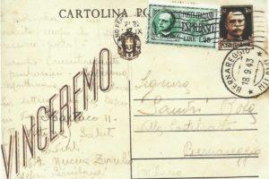 Cartolina postale indirizzata Villa Castelrotto ovvero Casa Barzaghi